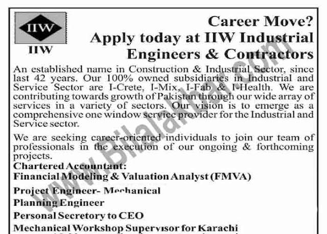 Engineering Jobs at IIW Industrial Engineers & Contractors