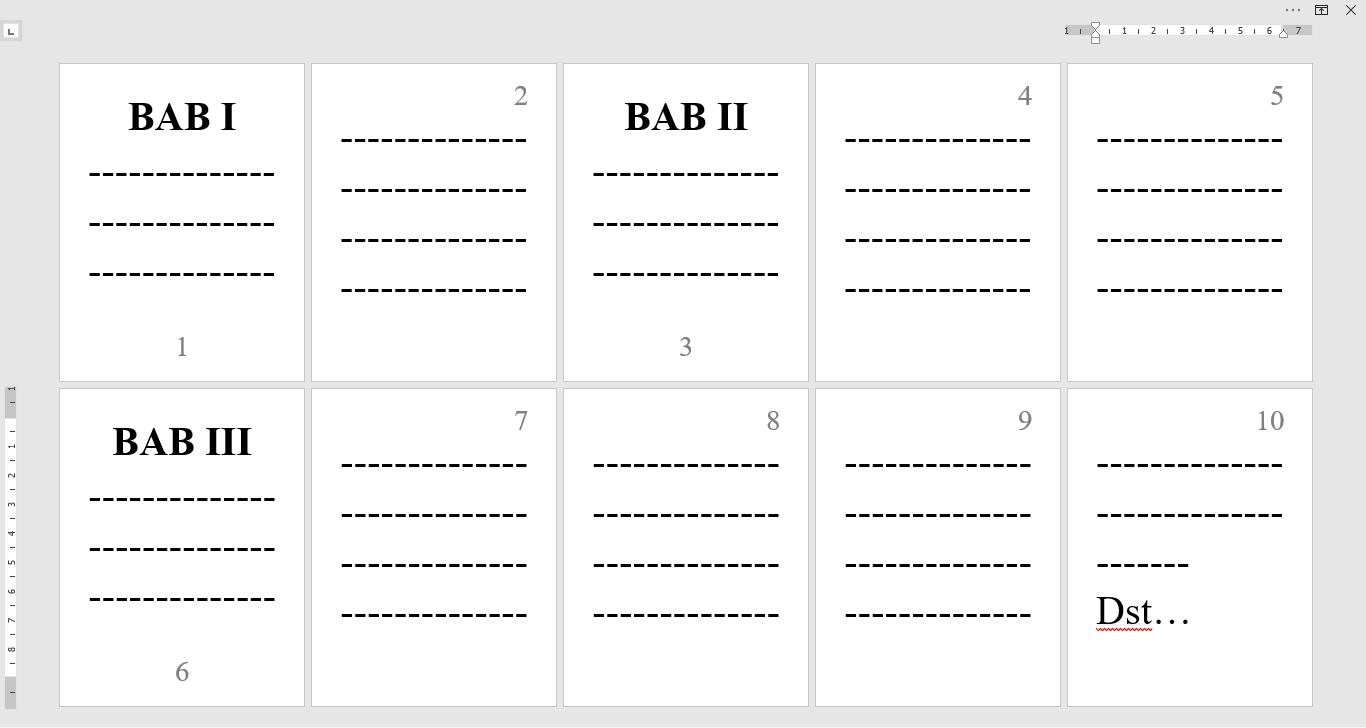 Cara Membuat Nomor Halaman Beda Posisi di Awal BAB (Bawah dan Kanan Atas) dalam Satu Dokumen Microsoft Word