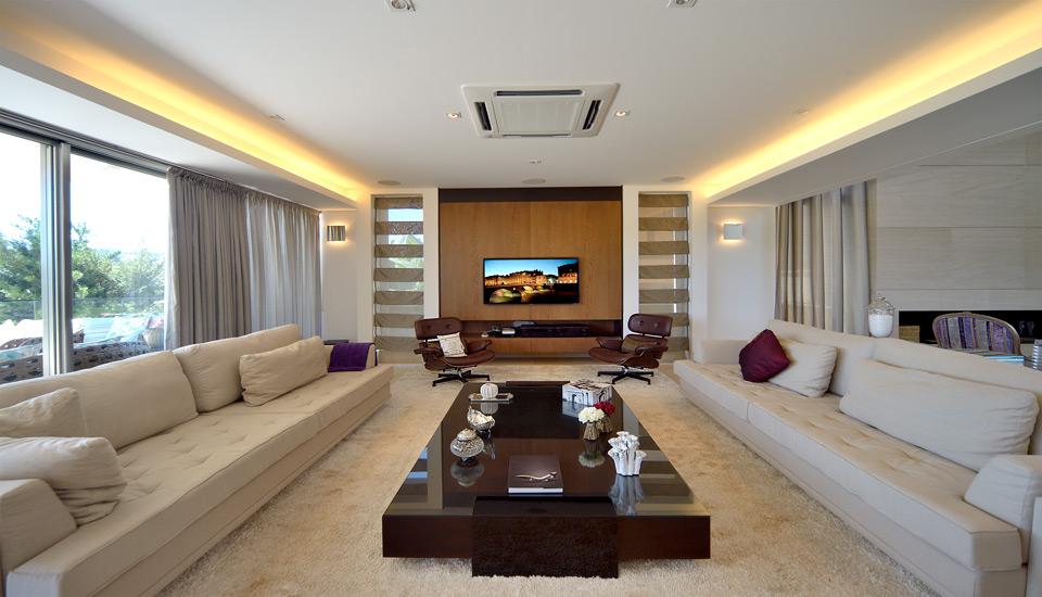 Villa casa houseware projeto esbanja luxo e requinte com for Cartongesso sala
