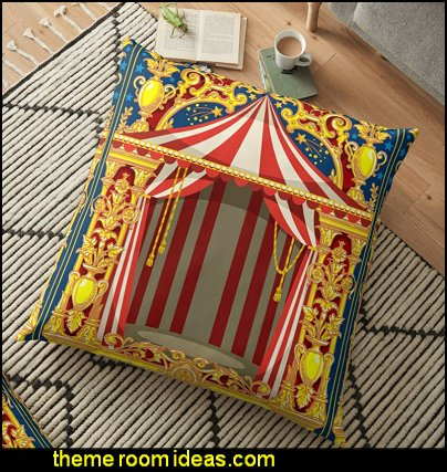 Carnival Circus Floor Pillow circus bedroom accessories circus bedroom decor