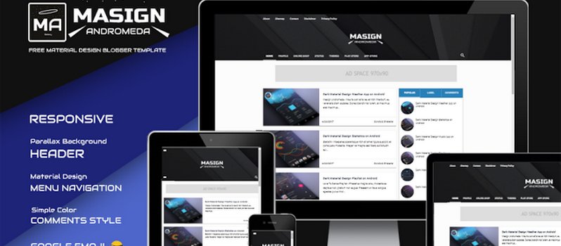 10+ Best Responsive Material Design Blogger Templates - Codiblog