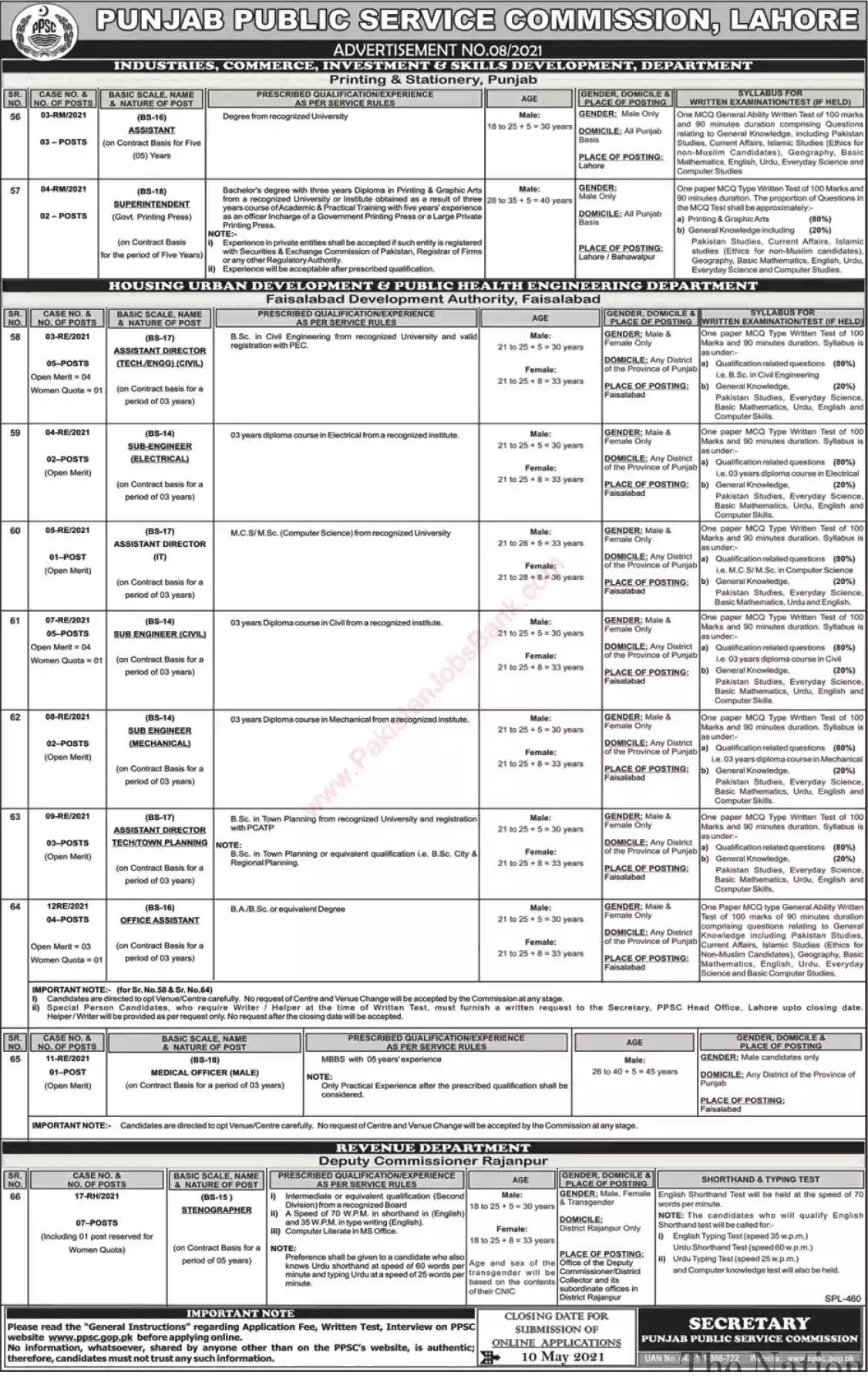 New Jobs in Pakistan Faisalabad Development Authority Jobs 2021 | Apply Online