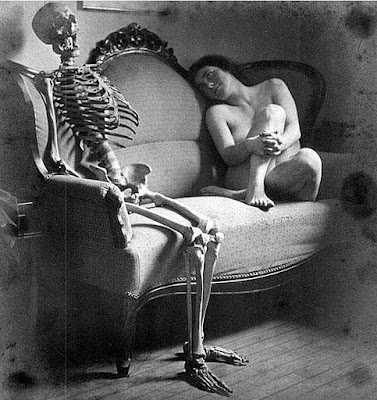 The skeleton and the women. Franz Fiedler (1885-1956)