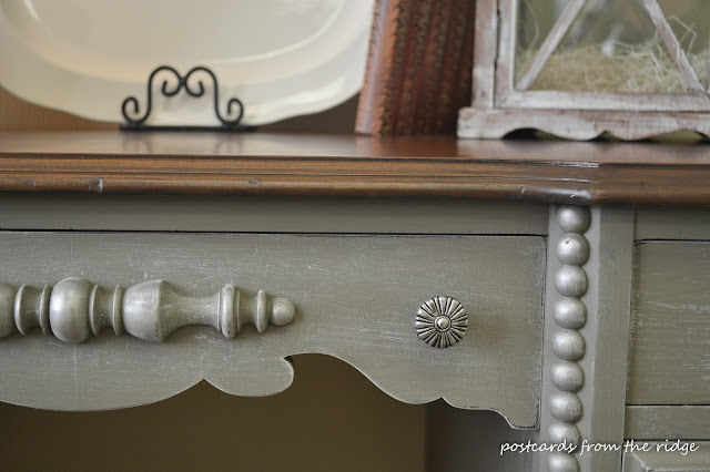 Painted antique wooden desk