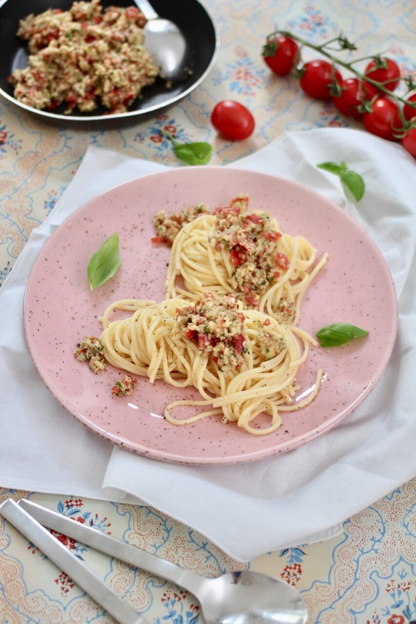 Spaghetti mit Pesto Trapanese Rezept