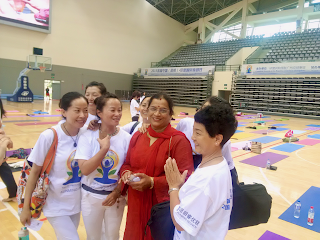 Mrs. Radha Srinivasagopalan, First India-China (Kunming) International Day of Yoga Event