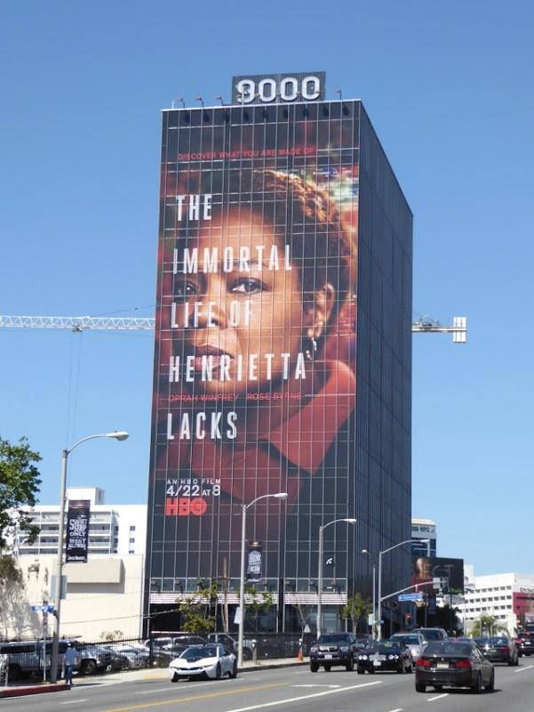 Immortal Life Henrietta Lacks giant movie billboard