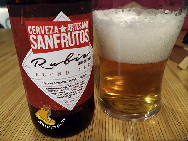 Cerveza artesana Sanfrutos sin gluten