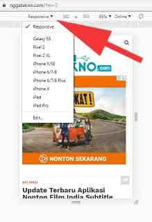 3 Cara Melihat Tampilan Blog/Situs Web Versi Mobile Di laptop/PC