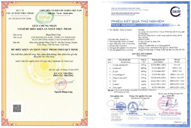 Giấy phép kinh doanh và giấy thử nghiệm sản phẩm-min
