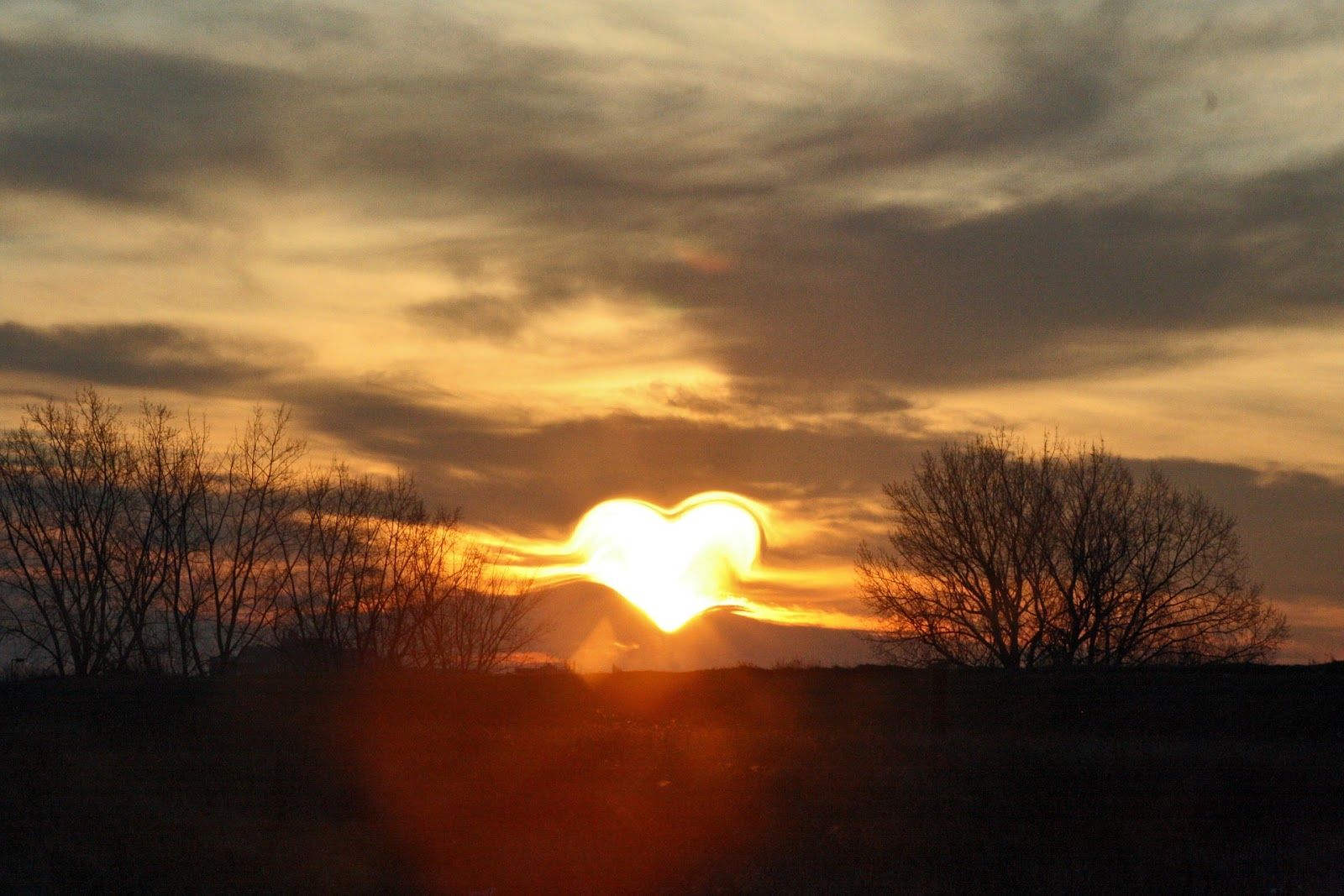 Heart Love Sun Rising early morning images