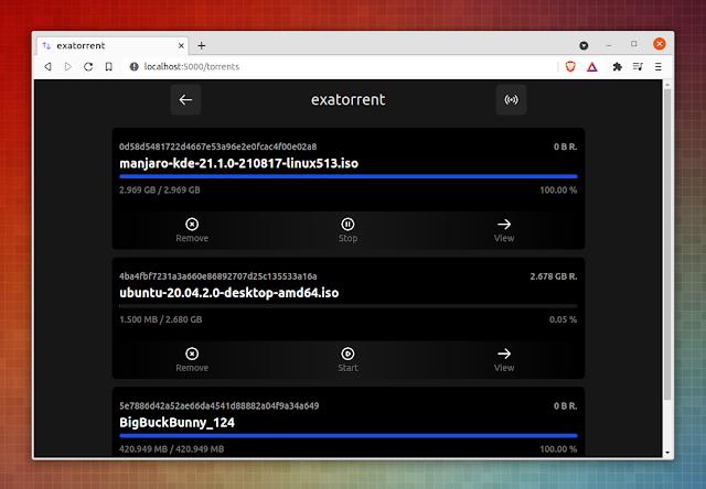 exatorrent torrent list