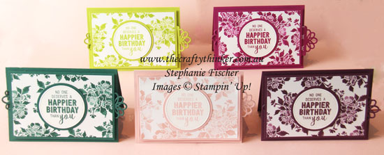 Fresh Florals, Double Slider card, 2017 to 2019 In Colours, Stampin Up Australia Demonstrator, Sydney NSW, #thecraftythinker