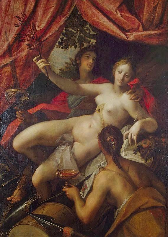 Alegoria da Paz e da Abundância - Hans Von Aachen e suas pinturas ~ Um grande pintor do estilo maneirista
