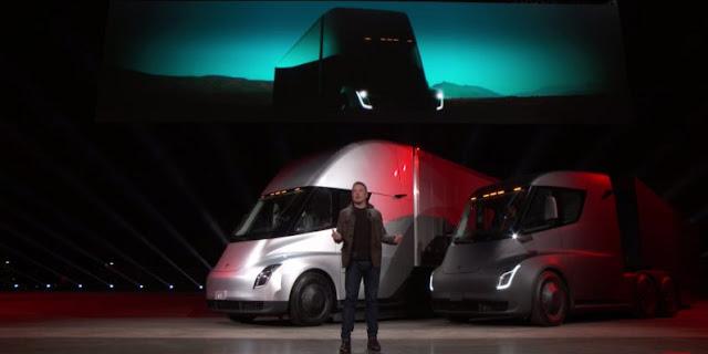 سيارة Semi الكهربائية تصل من 0 إلى 60 ميل/الساعة خلال 5 ثواني