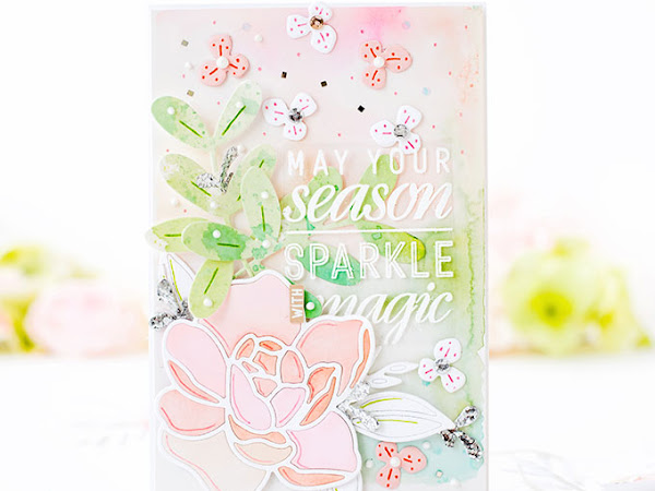 Sparkle with Magic - The Stamp Market + Pinkfresh