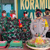 Datangi Koramil 1011-15, Kapolres Pulang Pisau Berikan Ucapan Selamat HUT TNI