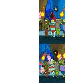 Polosan meme spongebob dan patrick 76 - keributan dan kerusuhan di bikini bottom
