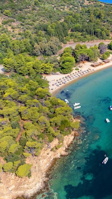 Wallpaper Aerial view of Tropical Island Coast