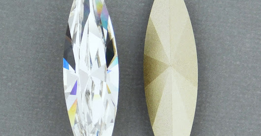 Giant Marquis-shaped Swarovski Crystals!