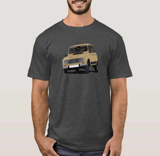 Renault 4 in curry colour t-shirt