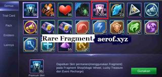 cara mudah dapatkan fragment rare mobile legend bang bang