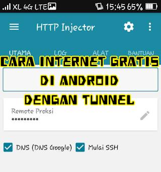 Tutorial Internet Gratis dengan HTTP Injector di Android