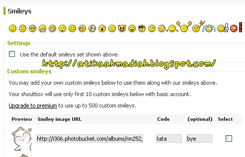 Tutorial, Tutorial Blog, Tutorial Cute Icon, Cute Icon Shoutbox, Cara nak buat Icon Comel di Shoutbox