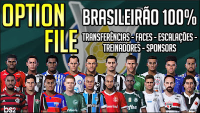 eFootball PES 2020 PS4 Option File Brasileirao