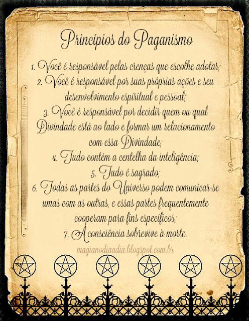 princípios do paganismo