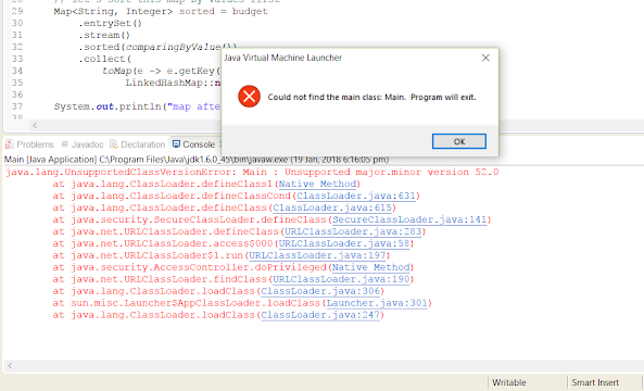 Eclipse - Unsupported major.minor version 53.0 Error