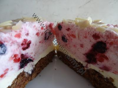 Ciasto z pianką owocową