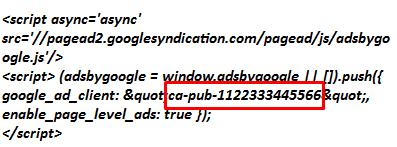 kode script adsense