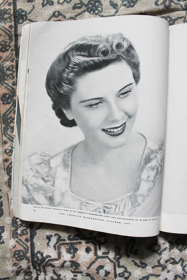 1940s hair style tutorial from American Hairdresser magazine