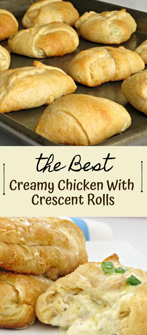 Creamy Chicken With Crescent Rolls #food #amazingrecipe