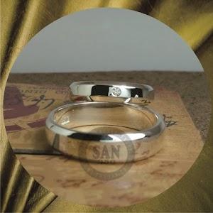 cincin emasputih perak p5764