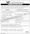 Jobs Bank-Jobs in First Women Bank Limited Pakistan