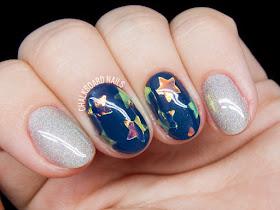 Glass Star nails by @chalkboardnails