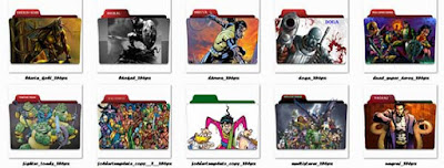 Folder Icons of Raj Comics Heroes Part-1