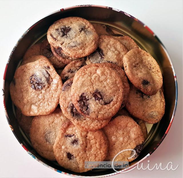 Cookies xocolata, galetes, galletas, chocolate, l'essència de la cuina, blog de cuina de la sònia, Thermomix