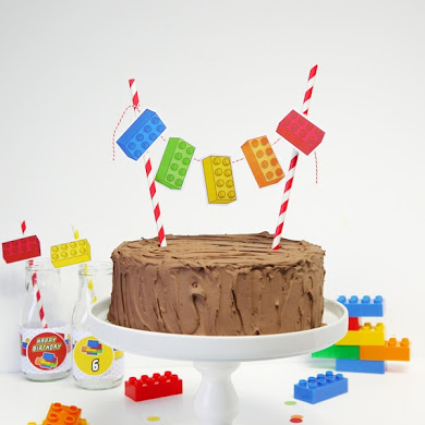 Easy DIY Lego Inspired Birthday Cake Bunting