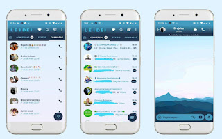 Landscape Blue Theme For GBWhatsApp Download