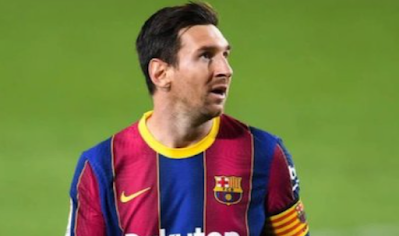 Lionel Messi in the Athletic Bilbao match