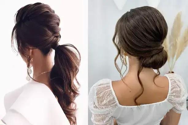 56 Coiffure de mariage pour les cheveux longs 2021