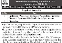 ASM Institute of Management and Computer Studies, Thane, Wanted