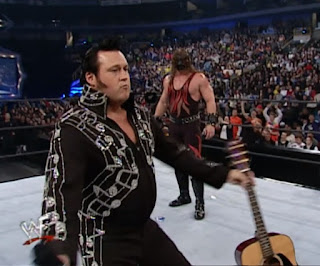 WWE / WWF Royal Rumble 2001 - The Honky Tonk man put in a surprise appearance in the Rumble match
