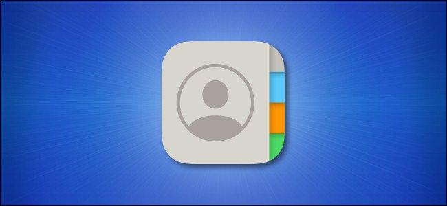 أيقونة جهات اتصال iPhone و iPad على خلفية زرقاء