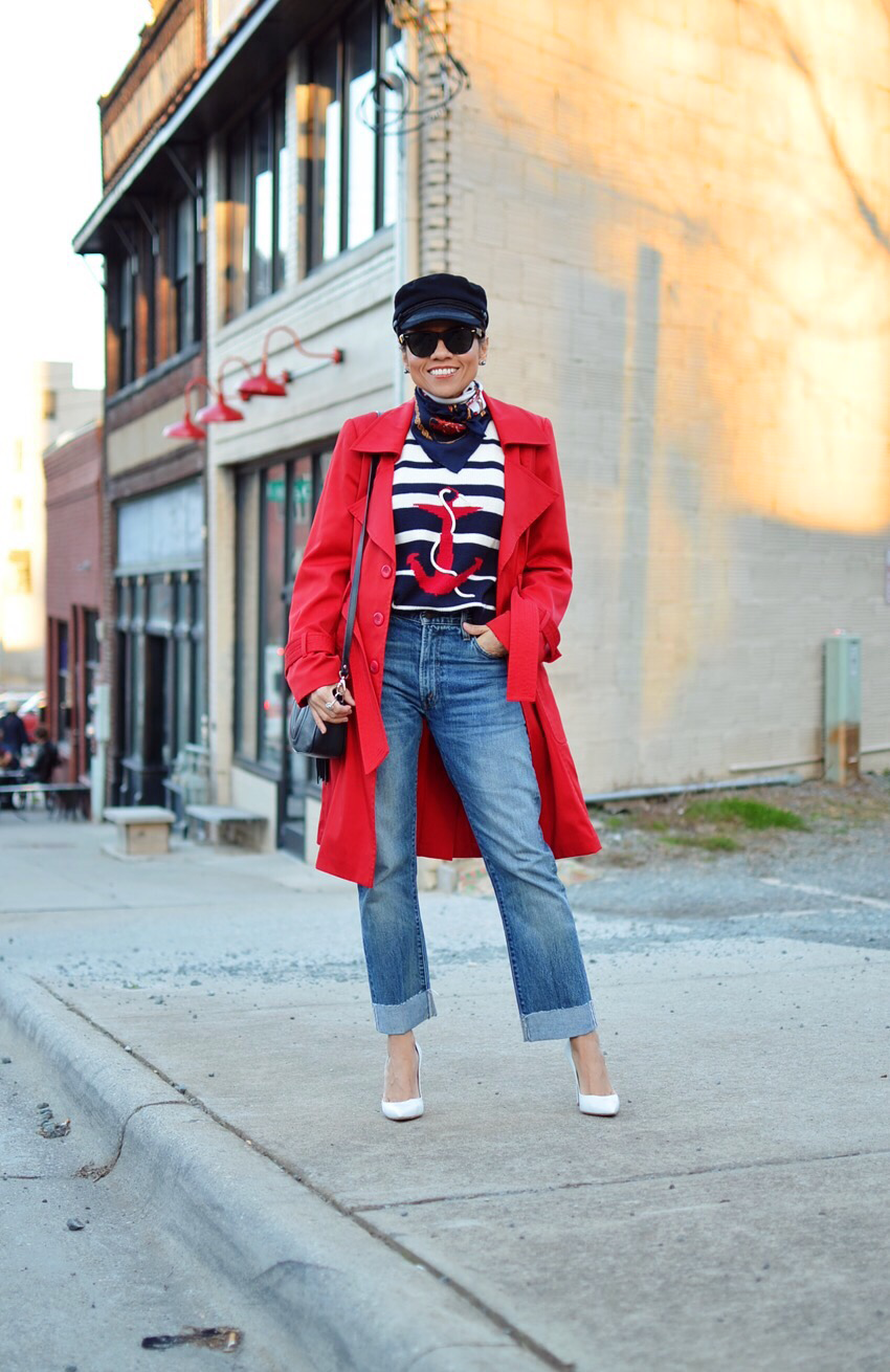 Nautical outfit street style