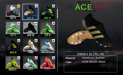 PES 2013 Black & Gold Adidas Ace PureControl Paul Pogba Boots by Ronaldo7rm