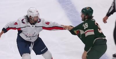 nhl hockey fight wild capitals